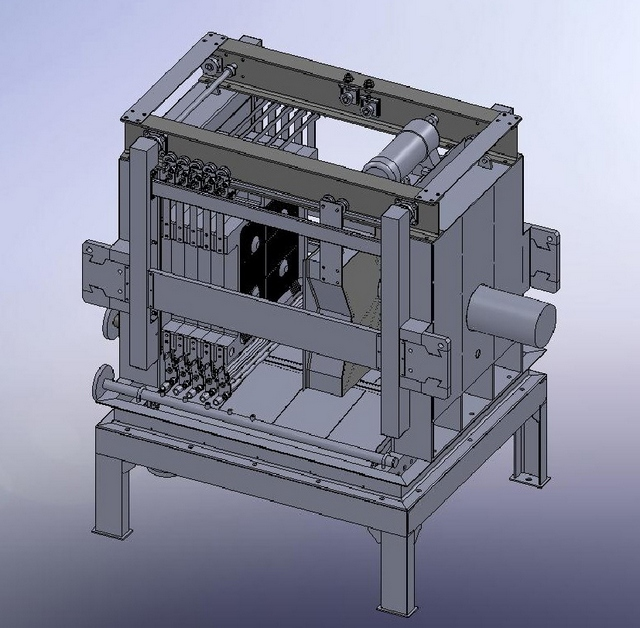 Эскиз корпуса фильтр-пресса с подвижной фильтровальной тканью.
